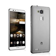 Silikon Schutzhülle Ultra Dünn Hülle Durchsichtig Transparent für Huawei Mate 7 Grau