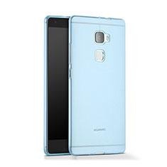 Silikon Schutzhülle Ultra Dünn Hülle Durchsichtig Transparent für Huawei Mate S Blau
