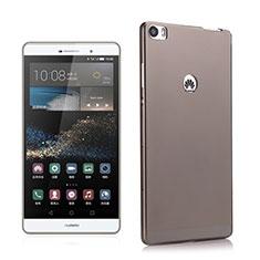 Silikon Schutzhülle Ultra Dünn Hülle Durchsichtig Transparent für Huawei P8 Max Grau