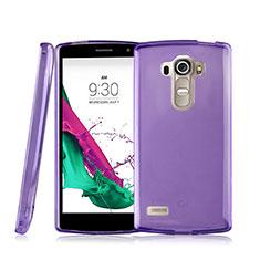 Silikon Schutzhülle Ultra Dünn Hülle Durchsichtig Transparent für LG G4 Beat Violett