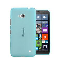 Silikon Schutzhülle Ultra Dünn Hülle Durchsichtig Transparent für Microsoft Lumia 640 Blau