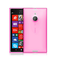 Silikon Schutzhülle Ultra Dünn Hülle Durchsichtig Transparent für Nokia Lumia 1520 Rosa