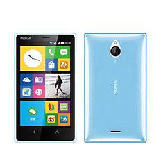 Silikon Schutzhülle Ultra Dünn Hülle Durchsichtig Transparent für Nokia X2 Dual Sim Blau
