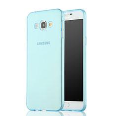 Silikon Schutzhülle Ultra Dünn Hülle Durchsichtig Transparent für Samsung Galaxy A7 SM-A700 Blau