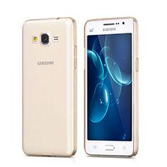Silikon Schutzhülle Ultra Dünn Hülle Durchsichtig Transparent für Samsung Galaxy Grand Prime 4G G531F Duos TV Gold