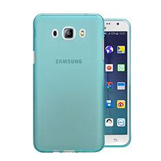 Silikon Schutzhülle Ultra Dünn Hülle Durchsichtig Transparent für Samsung Galaxy J5 Duos (2016) Blau