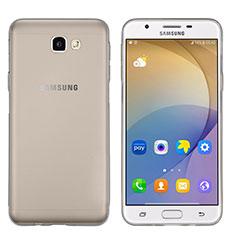 Silikon Schutzhülle Ultra Dünn Hülle Durchsichtig Transparent für Samsung Galaxy J5 Prime G570F Grau