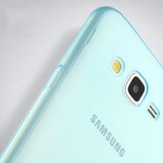 Silikon Schutzhülle Ultra Dünn Hülle Durchsichtig Transparent für Samsung Galaxy J7 SM-J700F J700H Blau