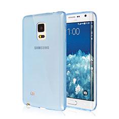 Silikon Schutzhülle Ultra Dünn Hülle Durchsichtig Transparent für Samsung Galaxy Note Edge SM-N915F Blau