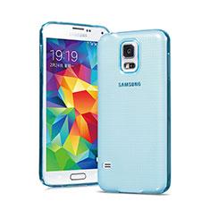 Silikon Schutzhülle Ultra Dünn Hülle Durchsichtig Transparent für Samsung Galaxy S5 G900F G903F Blau