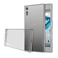 Silikon Schutzhülle Ultra Dünn Hülle Durchsichtig Transparent für Sony Xperia XZ Grau