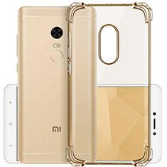 Silikon Schutzhülle Ultra Dünn Hülle Durchsichtig Transparent für Xiaomi Redmi Note 4X Gold