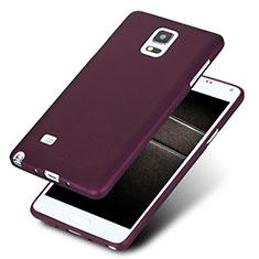 Silikon Schutzhülle Ultra Dünn Hülle S02 für Samsung Galaxy Note 4 Duos N9100 Dual SIM Violett