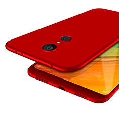 Silikon Schutzhülle Ultra Dünn Hülle S02 für Xiaomi Redmi 5 Rot