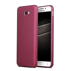 Silikon Schutzhülle Ultra Dünn Hülle S03 für Samsung Galaxy J7 Prime Violett