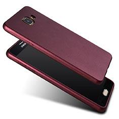 Silikon Schutzhülle Ultra Dünn Hülle Silikon für Samsung Galaxy A7 (2017) A720F Rot