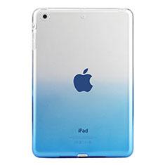 Silikon Schutzhülle Ultra Dünn Tasche Durchsichtig Farbverlauf für Apple iPad Mini 3 Blau