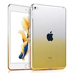 Silikon Schutzhülle Ultra Dünn Tasche Durchsichtig Farbverlauf für Apple iPad Mini 4 Gelb