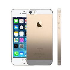 Silikon Schutzhülle Ultra Dünn Tasche Durchsichtig Farbverlauf für Apple iPhone SE Grau