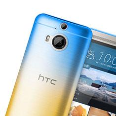 Silikon Schutzhülle Ultra Dünn Tasche Durchsichtig Farbverlauf für HTC One M9 Plus Orange