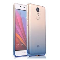 Silikon Schutzhülle Ultra Dünn Tasche Durchsichtig Farbverlauf für Huawei Enjoy 6 Blau