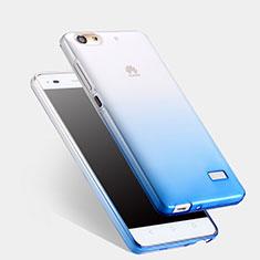 Silikon Schutzhülle Ultra Dünn Tasche Durchsichtig Farbverlauf für Huawei G Play Mini Blau