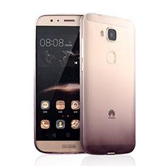 Silikon Schutzhülle Ultra Dünn Tasche Durchsichtig Farbverlauf für Huawei G7 Plus Braun