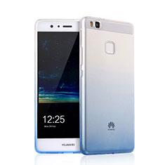 Silikon Schutzhülle Ultra Dünn Tasche Durchsichtig Farbverlauf für Huawei G9 Lite Schwarz