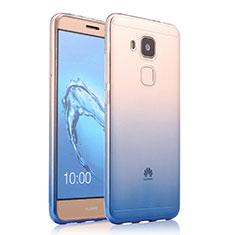 Silikon Schutzhülle Ultra Dünn Tasche Durchsichtig Farbverlauf für Huawei G9 Plus Blau