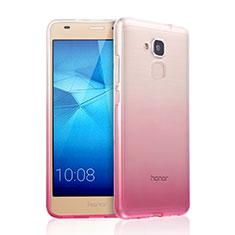 Silikon Schutzhülle Ultra Dünn Tasche Durchsichtig Farbverlauf für Huawei GR5 Mini Rosa