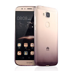 Silikon Schutzhülle Ultra Dünn Tasche Durchsichtig Farbverlauf für Huawei GX8 Braun