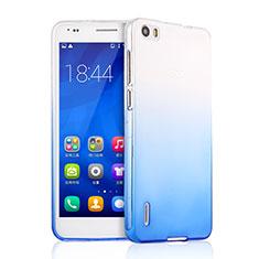 Silikon Schutzhülle Ultra Dünn Tasche Durchsichtig Farbverlauf für Huawei Honor 6 Blau
