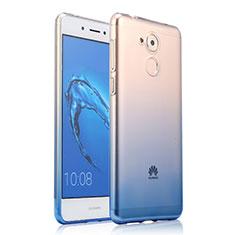 Silikon Schutzhülle Ultra Dünn Tasche Durchsichtig Farbverlauf für Huawei Honor 6C Blau