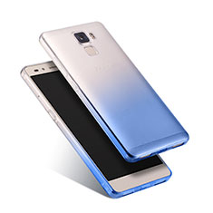Silikon Schutzhülle Ultra Dünn Tasche Durchsichtig Farbverlauf für Huawei Honor 7 Dual SIM Blau