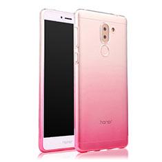 Silikon Schutzhülle Ultra Dünn Tasche Durchsichtig Farbverlauf für Huawei Mate 9 Lite Rosa