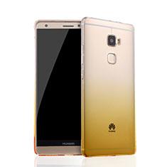 Silikon Schutzhülle Ultra Dünn Tasche Durchsichtig Farbverlauf für Huawei Mate S Gelb