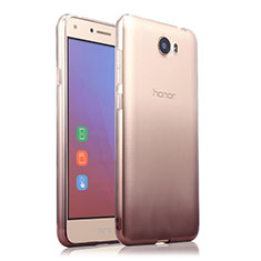 Silikon Schutzhülle Ultra Dünn Tasche Durchsichtig Farbverlauf für Huawei Y5 II Y5 2 Grau
