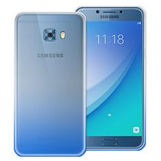 Silikon Schutzhülle Ultra Dünn Tasche Durchsichtig Farbverlauf für Samsung Galaxy C5 Pro C5010 Blau