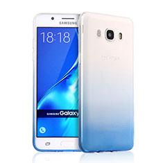 Silikon Schutzhülle Ultra Dünn Tasche Durchsichtig Farbverlauf für Samsung Galaxy J5 (2016) J510FN J5108 Blau