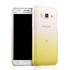 Silikon Schutzhülle Ultra Dünn Tasche Durchsichtig Farbverlauf für Samsung Galaxy J5 SM-J500F Gelb