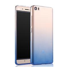 Silikon Schutzhülle Ultra Dünn Tasche Durchsichtig Farbverlauf für Xiaomi Mi 5 Blau