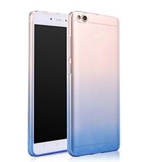 Silikon Schutzhülle Ultra Dünn Tasche Durchsichtig Farbverlauf für Xiaomi Mi 5C Blau