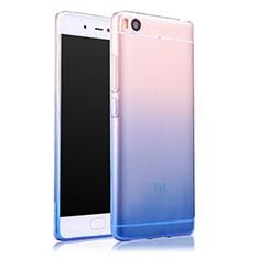 Silikon Schutzhülle Ultra Dünn Tasche Durchsichtig Farbverlauf für Xiaomi Mi 5S 4G Blau