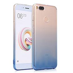 Silikon Schutzhülle Ultra Dünn Tasche Durchsichtig Farbverlauf für Xiaomi Mi A1 Blau