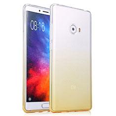 Silikon Schutzhülle Ultra Dünn Tasche Durchsichtig Farbverlauf für Xiaomi Mi Note 2 Gelb