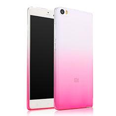 Silikon Schutzhülle Ultra Dünn Tasche Durchsichtig Farbverlauf für Xiaomi Mi Note Rosa