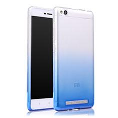 Silikon Schutzhülle Ultra Dünn Tasche Durchsichtig Farbverlauf für Xiaomi Redmi 3 Blau