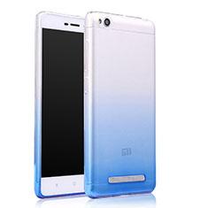Silikon Schutzhülle Ultra Dünn Tasche Durchsichtig Farbverlauf für Xiaomi Redmi 4A Blau