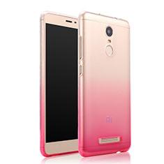 Silikon Schutzhülle Ultra Dünn Tasche Durchsichtig Farbverlauf für Xiaomi Redmi Note 3 MediaTek Rosa