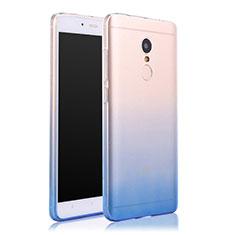 Silikon Schutzhülle Ultra Dünn Tasche Durchsichtig Farbverlauf für Xiaomi Redmi Note 4 Standard Edition Blau